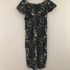 Floral midi summer dress